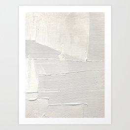 Relief [1]: an abstract, textured piece in white by Alyssa Hamilton Art Kunstdrucke