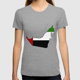 United Arab Emirates UAE Map with Flag T-shirt