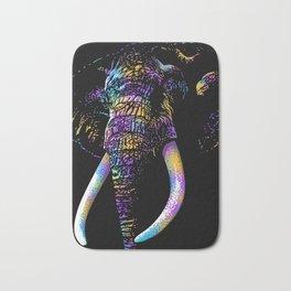 Artistic Colorful African Elephant Bath Mat