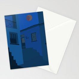 midnight mykonos Stationery Cards