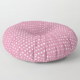Obviously Pink Mini Dots Pink Lace Floor Pillow