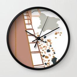 Walk the bridge Wall Clock