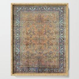 Kashan Floral Persian Carpet Print Serving Tray