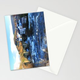 Bridge over  River Dee in spate at Llangollen, Wales Stationery Cards