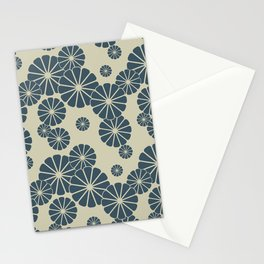 Blue Floral Japanese Pattern 2 Stationery Cards