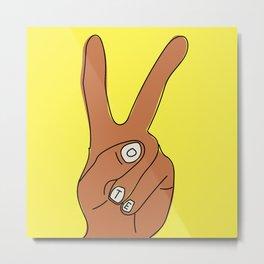 VOTE (hand) Metal Print