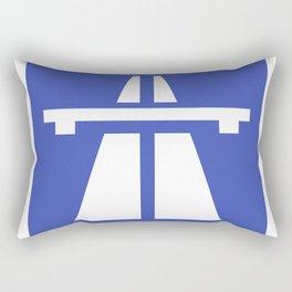 Autobahn Sign Rectangular Pillow