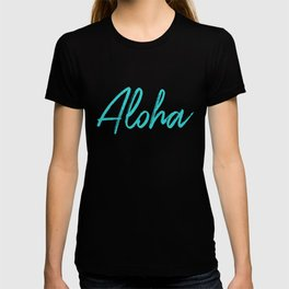 Aloha in Tropical Blue T-shirt