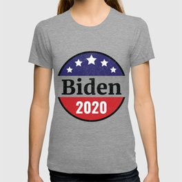 Biden 2020 Distressed Button Style T-shirt