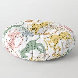 Rainbow Cheetah Floor Pillow