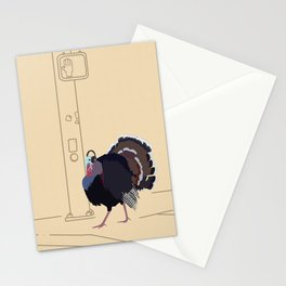 Tony Towny Turkey - bird portrait Stationery Cards