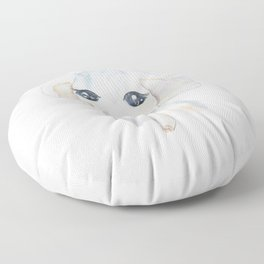 cute little elephant watercolor  Floor Pillow