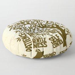 Fruit of the Spirit (Monotone) Floor Pillow