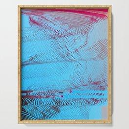 MEMORY MOSH - Glitch Art Print Serving Tray
