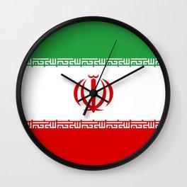 Iran Flag Wall Clock