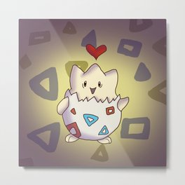 Togepi Heart Metal Print
