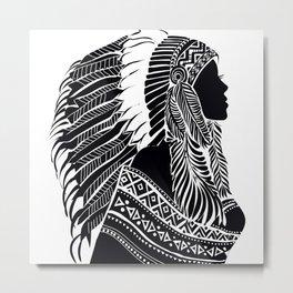 Native American Woman Metal Print