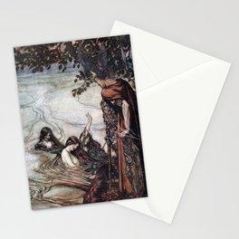 Arthur Rackham - Siegfried and the Twilight of the Gods (1911) - Mocking maids Stationery Cards