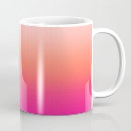 Gradient Ombre Living Coral Millennial Plastic Pink Pattern Peachy Orange Soft Trendy Cute Texture Coffee Mug