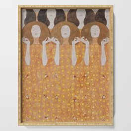 Gustav Klimt Choir of Angels Or Beethoven Frieze Serving Tray