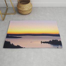 Landscape View of Sunset Rug