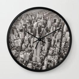 New York City Grey Wall Clock