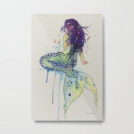 Mermaid - Natural Metal Print