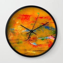Paint Splatters on Canvas Wall Clock