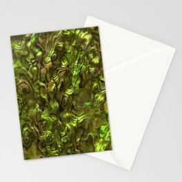 Abalone Shell   Paua Shell   Sea Shells   Patterns in Nature   Yellow Tint   Stationery Cards