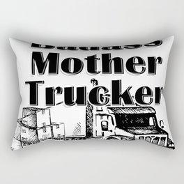 Badass Mother Trucker Rectangular Pillow