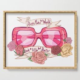 Pink Sunglasses Serving Tray