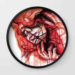 Metamorphosis-cardinal bird Wall Clock
