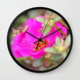 Neon Flower Wall Clock