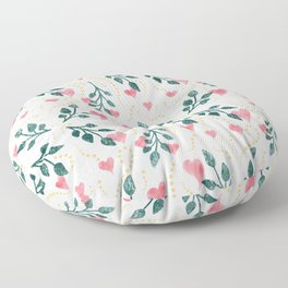 Hearts & Leaves Floor Pillow