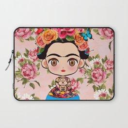 Frida cartoon roses Laptop Sleeve