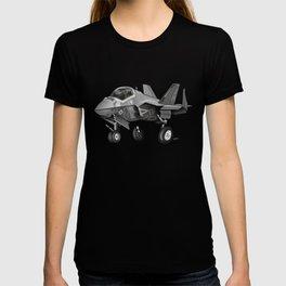 F35 Fighter Jet Airplane - F-35C Lightning II Joint Strike Fighter Cartoon T-shirt
