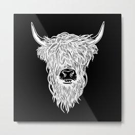Highland Cattle Scottish Cow Scotland Metal Print