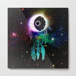 Cosmic Dream Catcher Metal Print