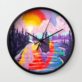80's SUNDOWN Wall Clock