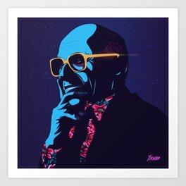 """Milton Friedman"" Portrait Art Print"