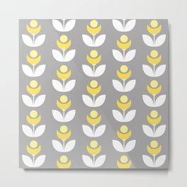 Moonflower pattern Metal Print