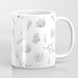 Desert Bones and Plants Pattern Coffee Mug