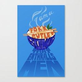 Pork Cutlet Bowl Fatale Canvas Print