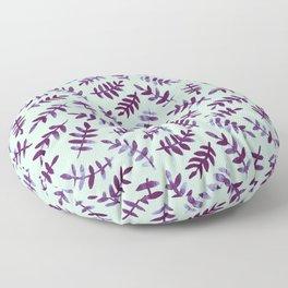 Watercolor Ferns - Mint Violet Floor Pillow