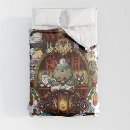 Ghibli Izakaya Print Coloured Comforters