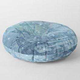 Ghost Ship Floor Pillow