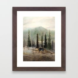 Mountain Black Bear Framed Art Print