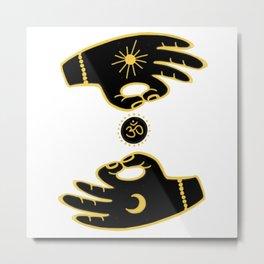 Mudra Hands Metal Print