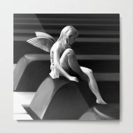 Piano Fairy - Pencil Metal Print
