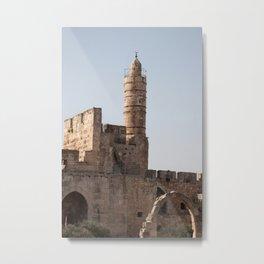 Tower of David in Jerusalem Metal Print